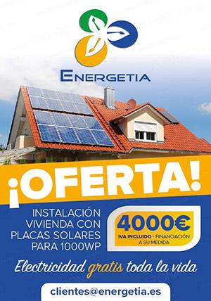 Oferta  instalación vivienda con placas solares